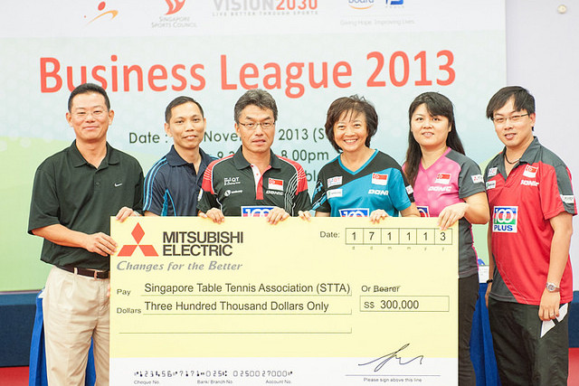 Mitsubishi Electric Extends Sponsorship with Singapore National Table Tennis Teams