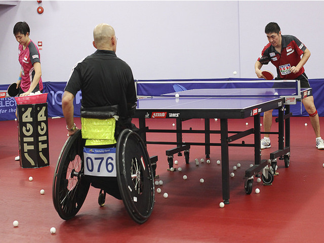 Sports Exchange With Table Tennis Association For The Disabled