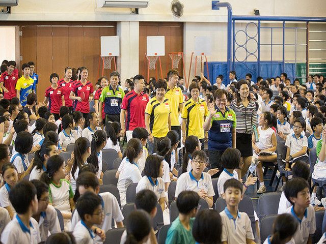Southeast Asian (SEA) Junior Table Tennis Championships Squad Visited Nanyang Primary School to share the spirit of good sportsmanship