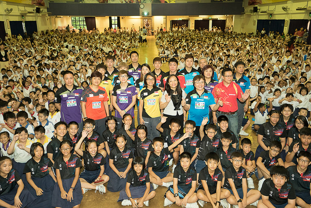 SEA Games Table Tennis Squad Visited Chong Fu School & Qi Hua Primary School