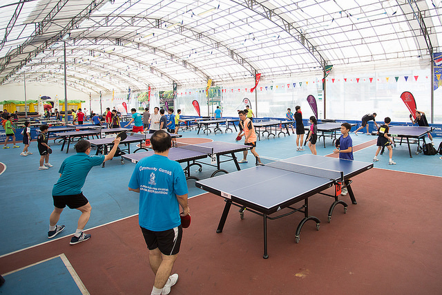 '50 Table' Fun Table Tennis Event In Celebration Of SG50 – Passion Table Tennis 2015 Held In The Heart Of Nee Soon South Featuring Competition On 50 Tables And Family Carnival