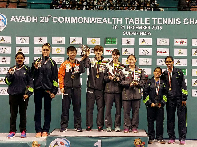 Singapore won 4 Gold Medals at the 20th Commonwealth Table Tennis Championships