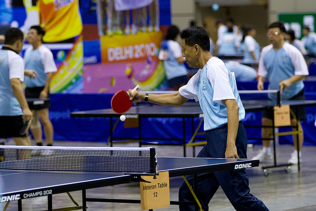 The Fun Table Tennis Event Is Organized by STTA Supported by People's Association and Nee Soon South GROs