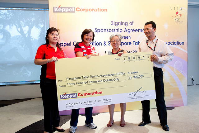 Keppel Partners With Singapore Table Tennis Association (STTA) To Groom Young Table Tennis Talents