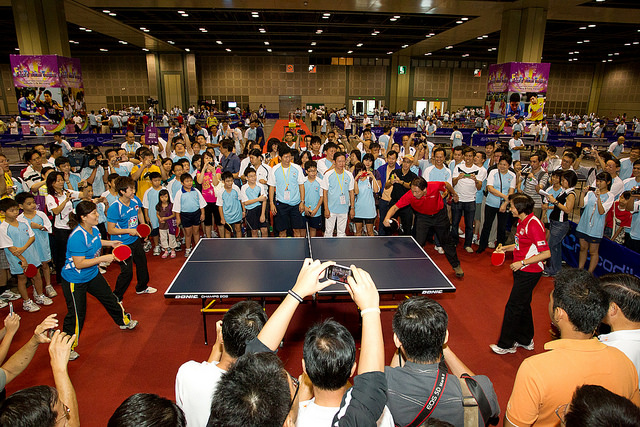 The Biggest Mass Partcipation Event Ever Organised By Singapore Table Tennis Assocaition (STTA) With Support From People's Association (PA) And Nee Soon South Gros