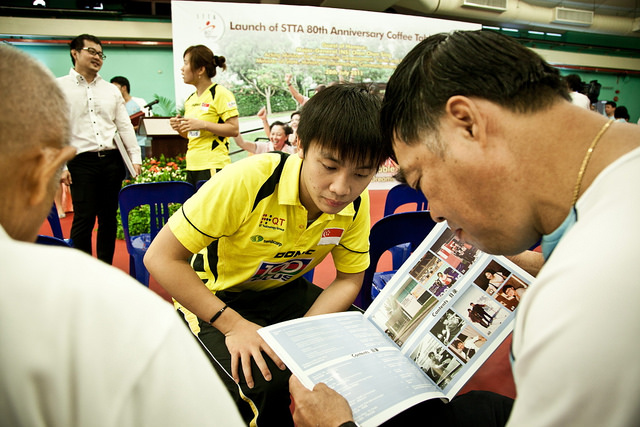 Launch of Singapore Table Tennis Association Coffee Table Book