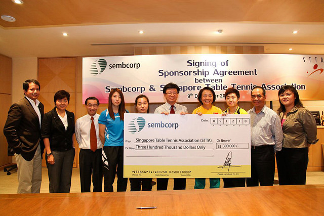 Sembcorp Signs Three-Year Sponsorship Deal With The Singapore Table Tennis Association (STTA)