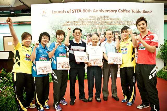 Launch Of Singapore Table Tennis Association (STTA) 80th Anniversary Coffee Table Book