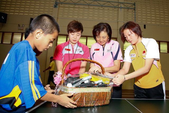 Singapore Table Tennis Association (STTA) National Team Paddlers Reaches Out To Boys At Muhammadiyah Welfare Home.