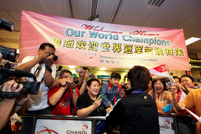 Singapore Welcomes Home Our World Champions!