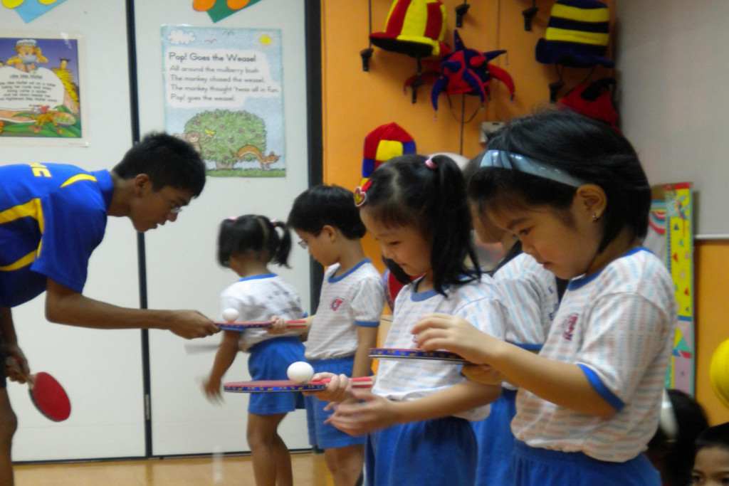 Pre-School Table Tennis Programme (5-6 yrs old)