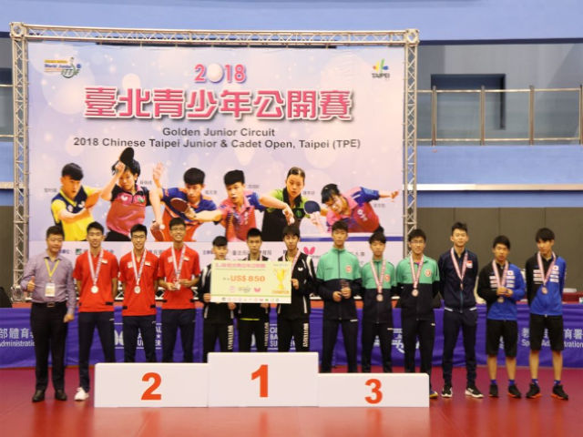 Singapore bagged 1 silver and 1 bronze in the team event at the 2018 Chinese Taipei Junior & Cadet Open-ITTF Golden Series Jr.Circuit, 22 to 26 Aug 2018