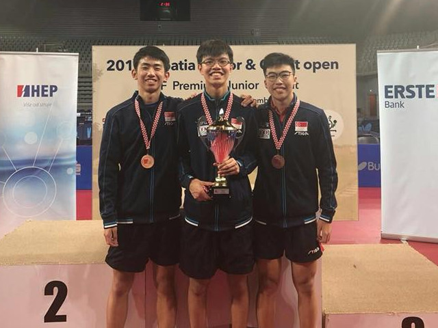 Singapore Table Tennis:  More Success at 2018 Croatia Junior & Cadet Open, 12 to 16 September