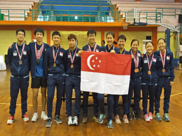 Team Singapore swept all the Top 4 positions in both the men's and women's singles event at the 11th South East Asian (SEA) Table Tennis Championships, Bali Indonesia, 15th to 18th November 2018