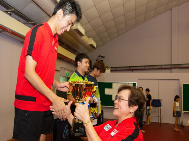 Koen Pang was crowned Triple Champion at the National Table Tennis Grand Finale 2018/2019