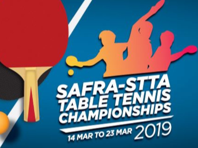 SAFRA-STTA Table Tennis Championships, 14 to 23 March 2019