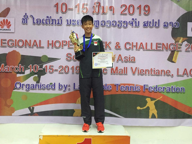 Victory at the Regional Hopes Week (South East Asia), 10 to 15 March 2019, Vietiane Laos
