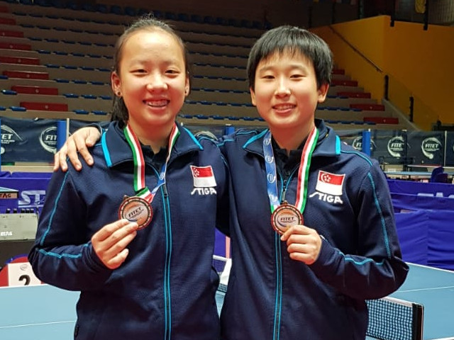 Singapore secures 2 bronzes at the 2019 ITTF Junior Circuit Premium, Italy Junior & Cadet Open, 20 to 24 March 2019