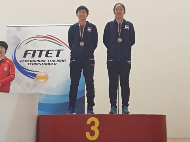 Singapore secures 2 bronzes at the 2019 ITTF Junior Circuit Premium, Italy Junior & Cadet Open, 20 to 24 March 2019