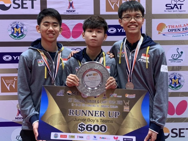 Silver Win at the 2019 ITTF Junior Circuit Golden, SET Thailand Junior & Cadet Open, 15 to 19 May 2019
