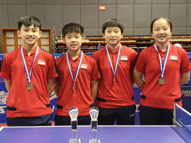 Singapore Youths open the tournament with 2 team bronzes at China Junior & Cadet Open – ITTF Golden Series World Junior Circuit (Taicang), 12 to 16 June 2019