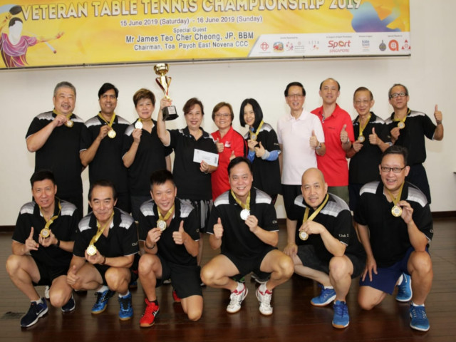 Former national player Li Jiawei participated in the Toa Payoh East-Novena/ STTA Veteran Table Tennis Championship 2019, 15 to 16 June 2019.
