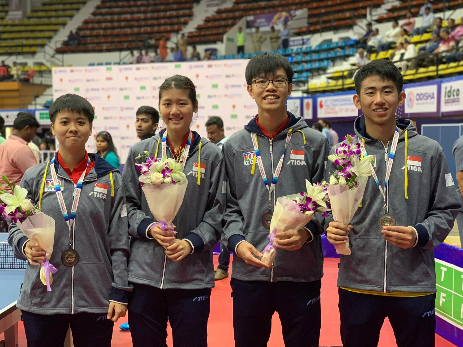 1 silver and 5 bronzes for Singapore Paddlers at the 21st Commonwealth Table Tennis Championships, Odisha, India (17 to 22 July 2019)