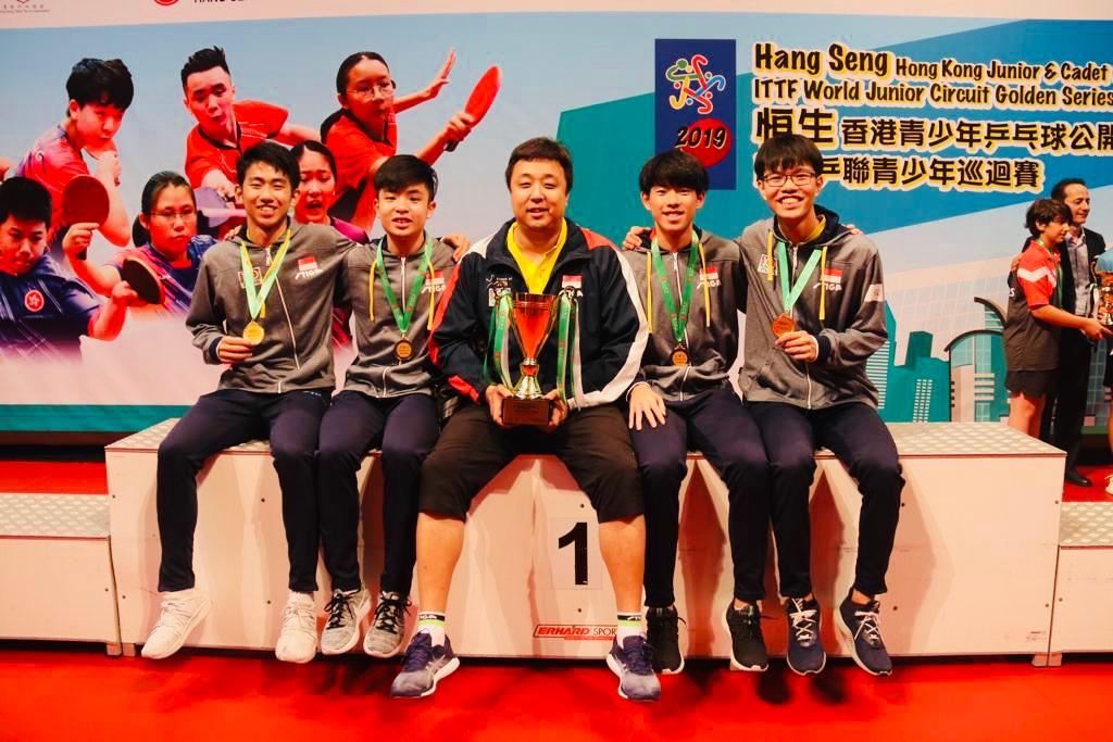 Team Singapore bagged 1 gold, 1 silver and 4 bronzes at the 2019 ITTF Junior Circuit Golden, Hang Seng Hong Kong Junior & Cadet Open (7 to 11 August 2019)