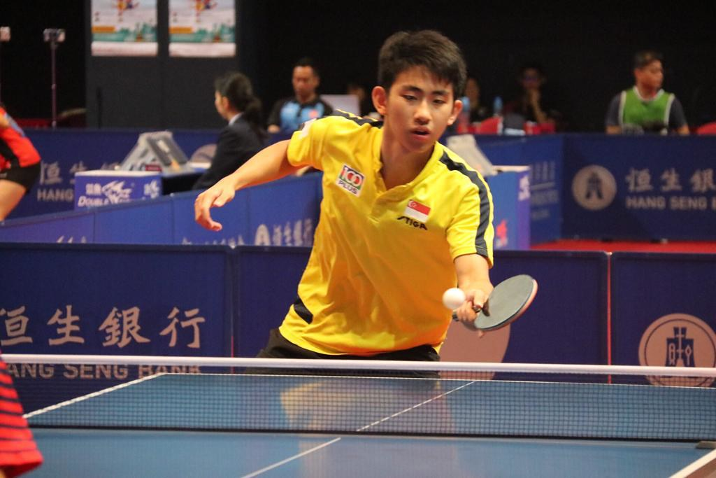 Koen Pang is the first Singapore paddler to reach World No. 1 ranking (U18).