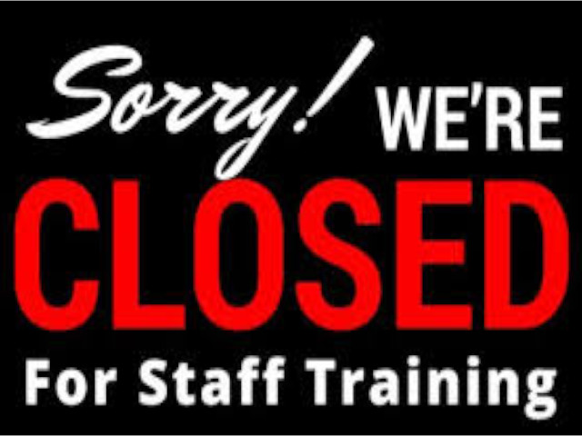 STTA Zone Training Centres will be closed on Monday, 30th September 2019 for Staff Training