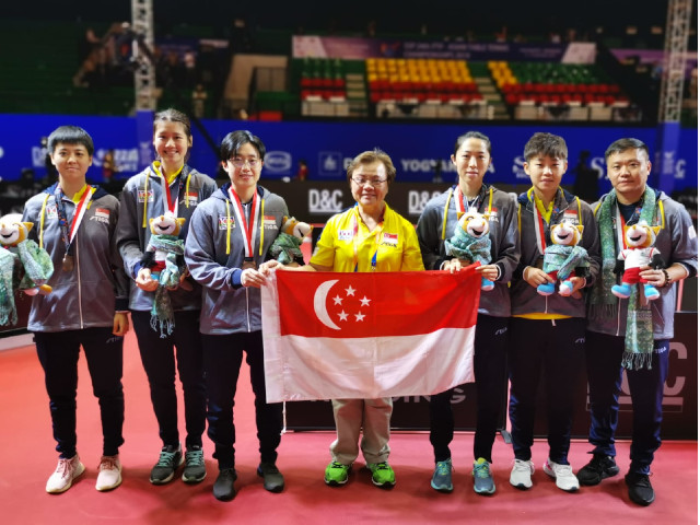 Table Tennis: Singapore win women's team bronze at Asian Championships