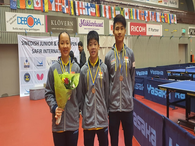 Table Tennis: Singapore Youth Paddlers enjoy medal haul at the 2020 World Junior Circuit, Swedish Junior & Cadet Open, 19 to 23 February 2020