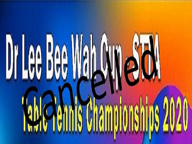 Dr Lee Bee Wah-STTA Championships 2020 (Cancelled)