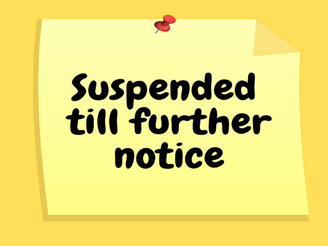 Learn to Play and Continue to Play programmes will continue to be suspended till further notice