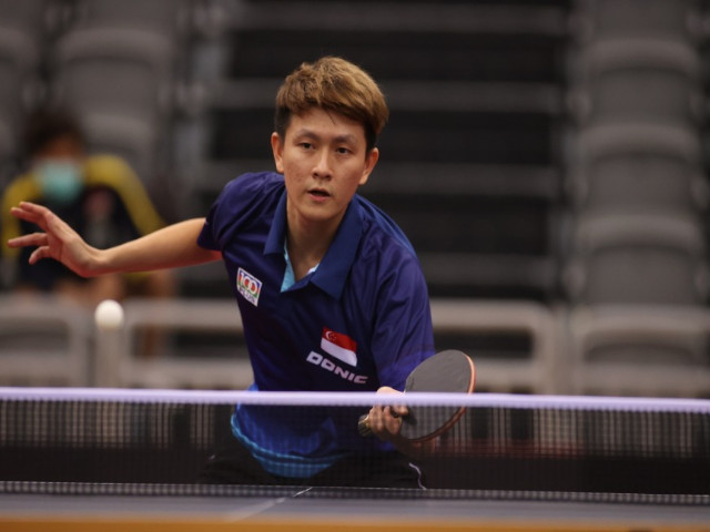 All-Singapore Table Tennis Finals for the Asian Olympic Qualification Tournament
