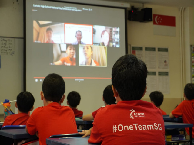 Olympians Celebrate National Day with Catholic High HIGH (PRIMARY & SECONDARY)